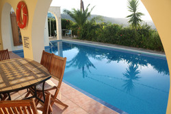 Pool from covered terrace