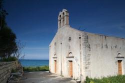 Old church by the sea at Kera