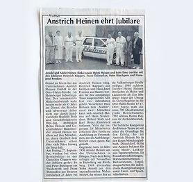 Zeitungsartikel, Anstrich Heinen ehrt Jubilare