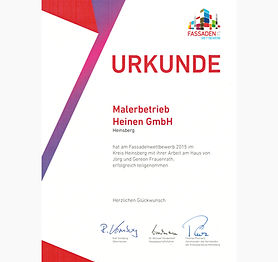Fassadenwettbewerb Anstrich Heinen gewinnt