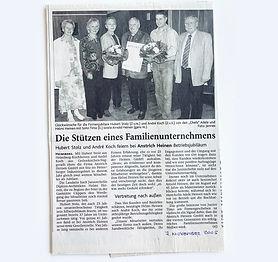 zwei Mitarbeiter über 25 Jahre bei Anstrich Heinen