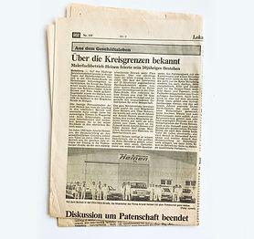 Zeitungsartikel, Anstrich Heinen Malerfachbetrieb vor neuer Halle