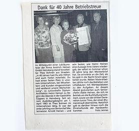 40 Jahre als Maler bei Anstrich Heinen in Heinsberg