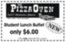 Pizza Oven new ad for 2018 student buffe