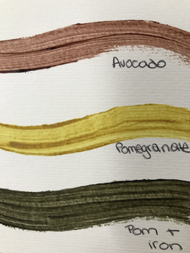Lake Pigments from Food Waste
