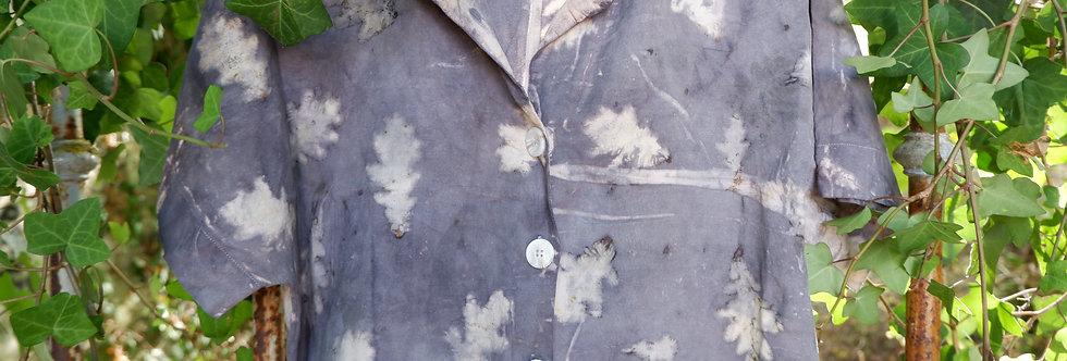 Upcycled Linen Shirt - Oak Leaves