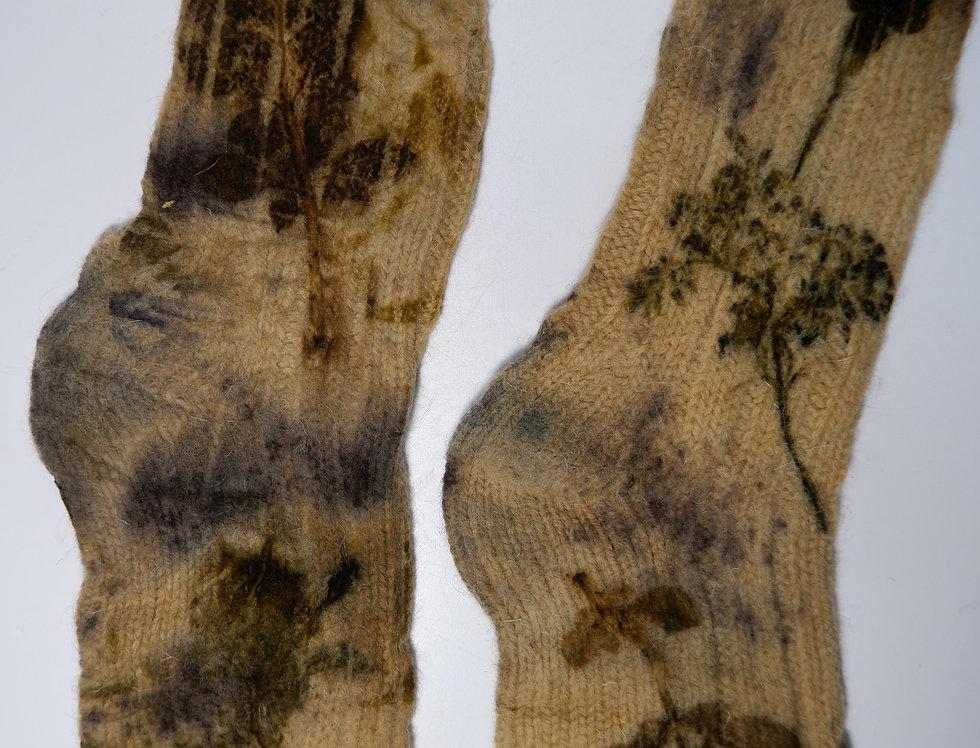 Ecoprinted Wool Socks