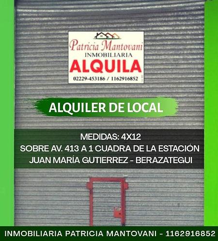 Local en Juan Maria Gutierrez | Alquiler