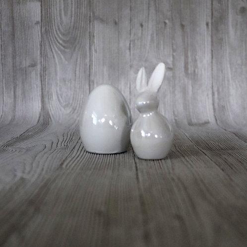 Ei oder Hase aus Keramik