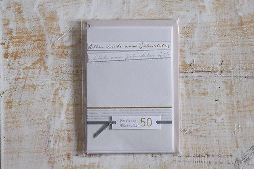 """Karte """"50 Jahre"""""""