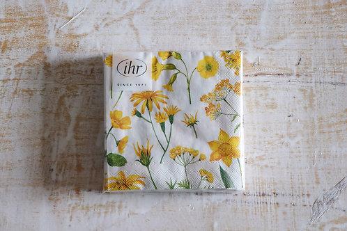 """Servietten """"Gelbe Blumen"""""""