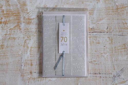 """Karte """"70 Jahre"""""""