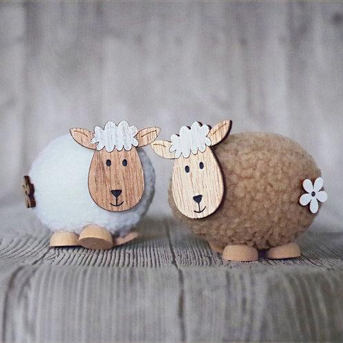 Deko-Schaf aus Plüsch