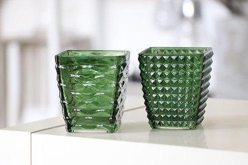 Glasvase grün