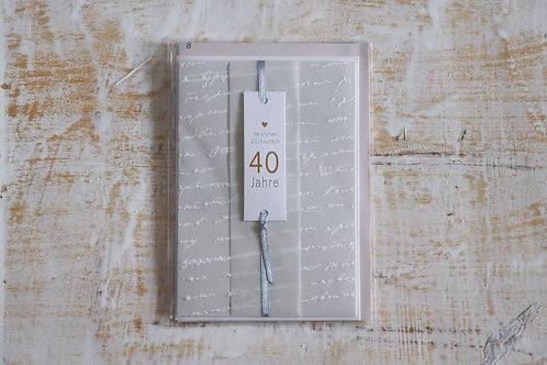 """Karte """"40 Jahre"""""""