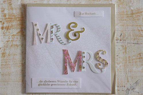 "Karte ""MR & MRS"""