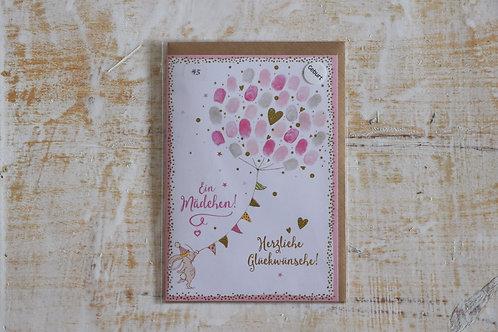 """Karte """"Ein Mädchen"""""""