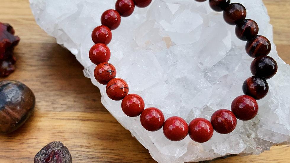 Crimson Crush mala bracelet
