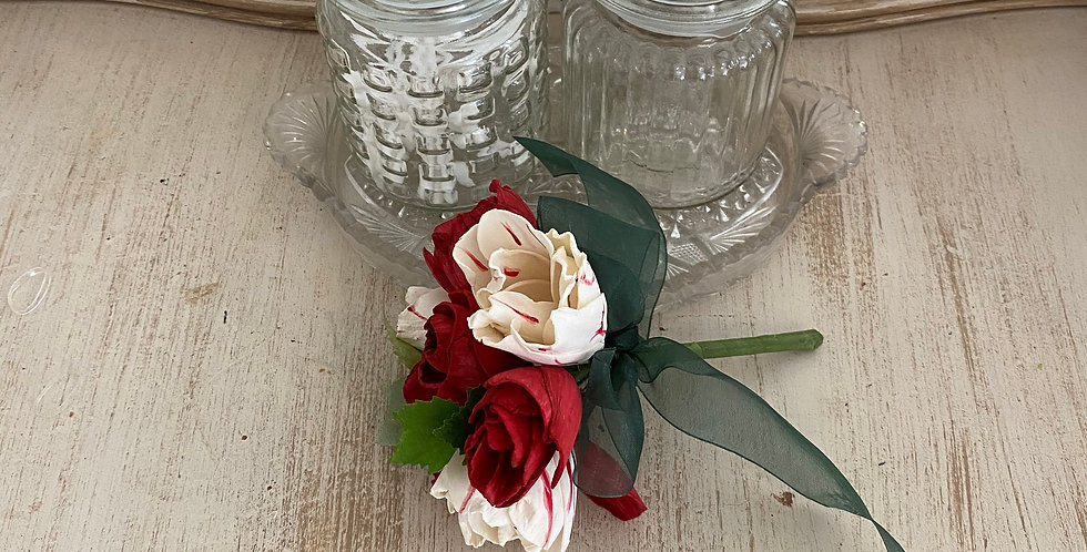 Red and White Tulip Petite Bouquet
