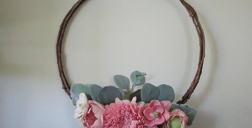"15"" Grapevine Bridal Blush Wreath"