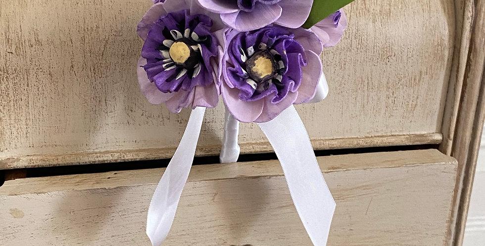 Purple Pansy Petite Bouquet
