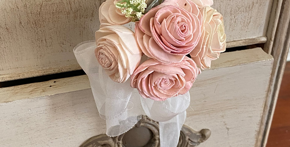 Blush Pink Roses Petite Bouquet