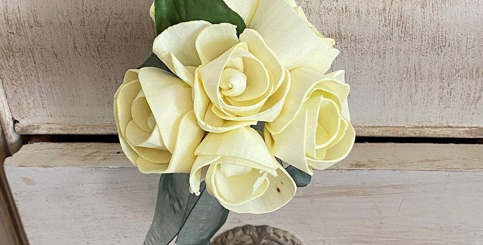 Pale Yellow Rose Petite Bouquet