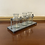 Thumbnail: Metal and Three Glass Petite Vases