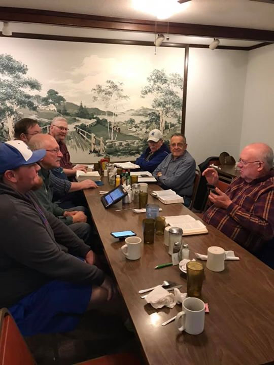 Met with the men at Stacy's this morning