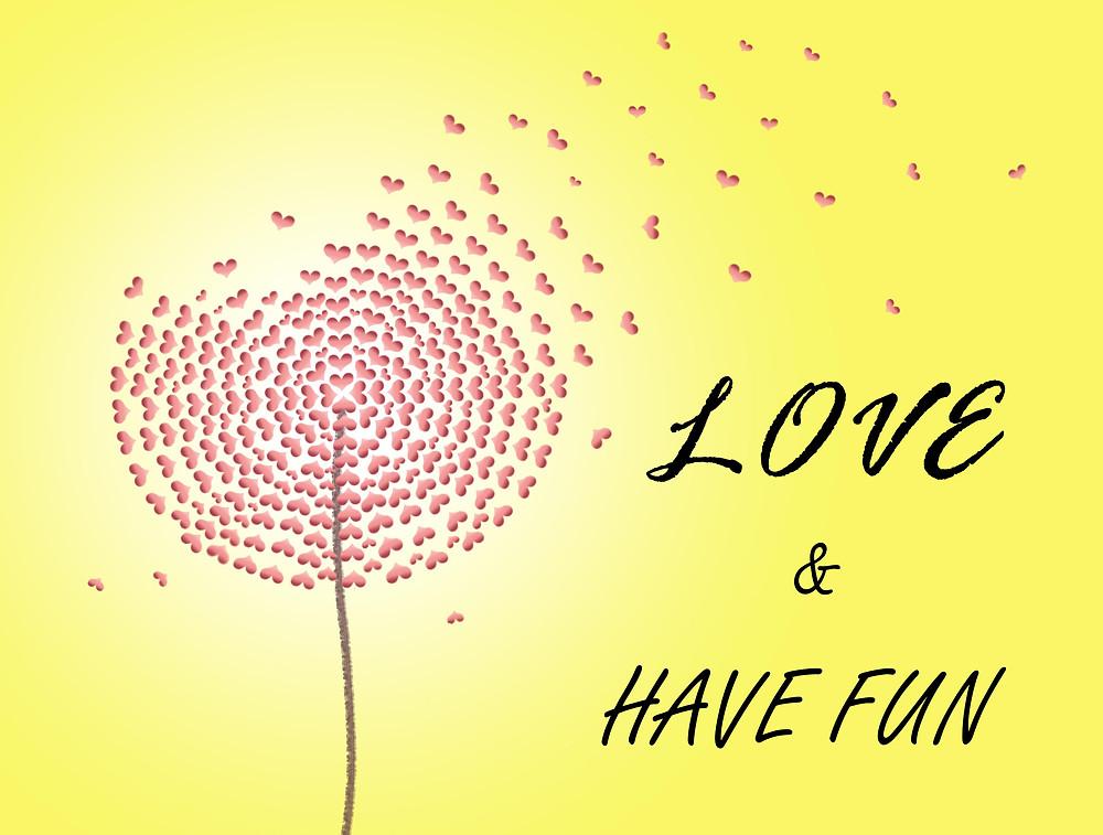Dandelion love hearts