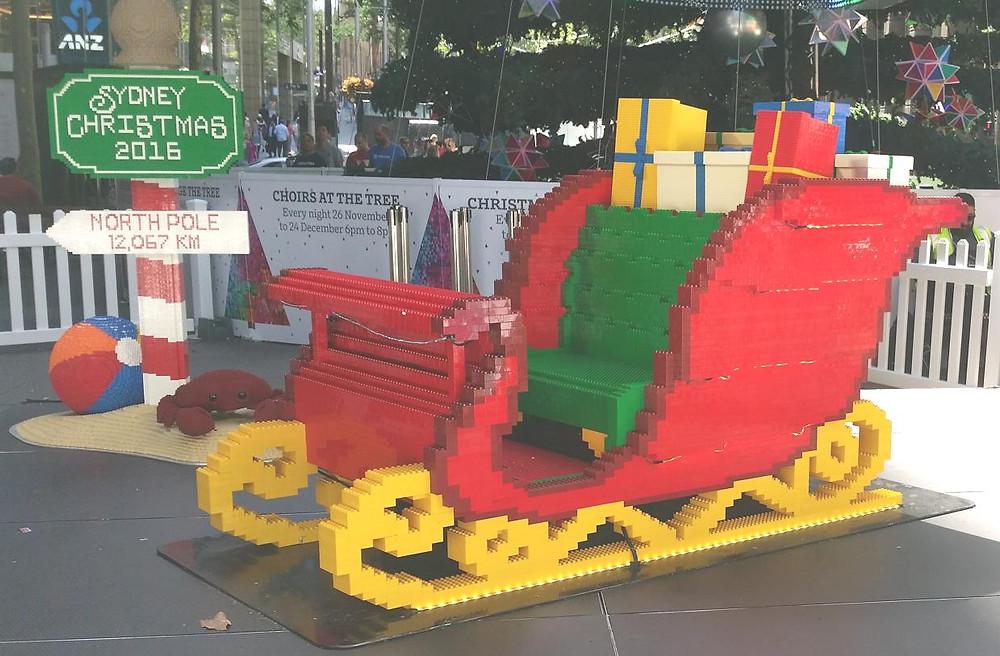 Lego christmas sleigh