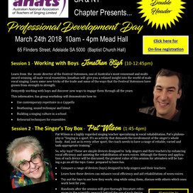 SA & NT EVENT: Professional Development Day with Jonathan Bligh and Pat Wilson