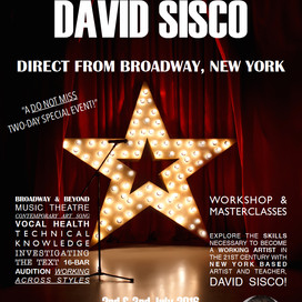 NSW Event: Vocal Coach DAVID SISCO - Direct from Broadway, New York! July 2016