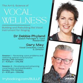 10 & 17th Oct 2021| ONLINE |Vocal Wellness