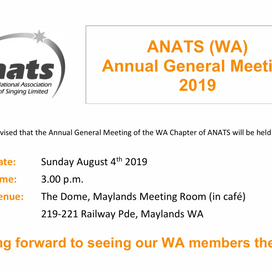 WA EVENT: Annual General Meeting 2019