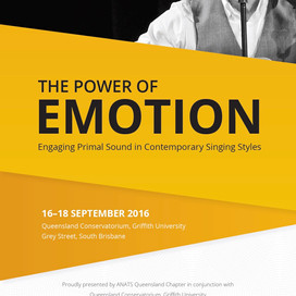 September 16-18 | The Power of Emotion: Engaging Primal Sound in Contemporary Singing Styles