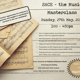 SA chapter event: SACE the Music