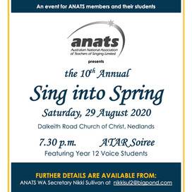 29th Aug 2020 | WA | Sing into Spring