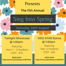 28th Aug 2021   WA   Sing into Spring