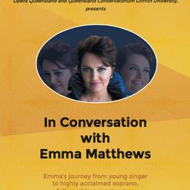 In conversation with Emma Matthews