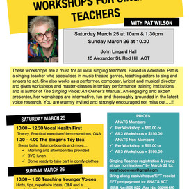 ACT - Workshops for Singing Teachers