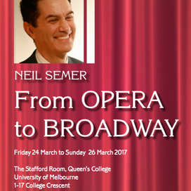 VIC - Neil Semer: From OPERA to BROADWAY