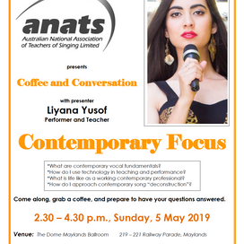 ANATS WA EVENT: Coffee & Conversation - Contemporary Focus with Liyana Yusof