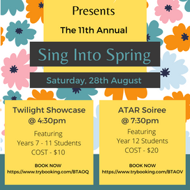 28th Aug 2021 | WA | Sing into Spring