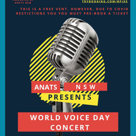 17 Apr 2021 | NSW | World Voice Day Concert