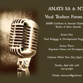 SA & NT EVENT: Vocal Teachers Forum #2