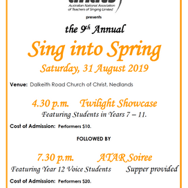 WA EVENT: 9th Annual Sing Into Spring