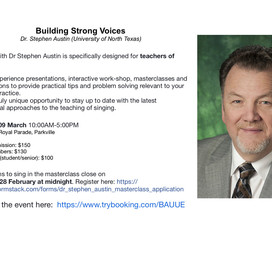 VIC EVENT - Building Strong Voices: A Day with Stephen Austin