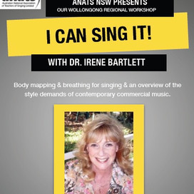 Past Event: NSW Chapter Event: I CAN SING IT! with Dr. Irene Bartlett