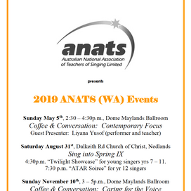 WA 2019 EVENTS: SAVE THE DATE!
